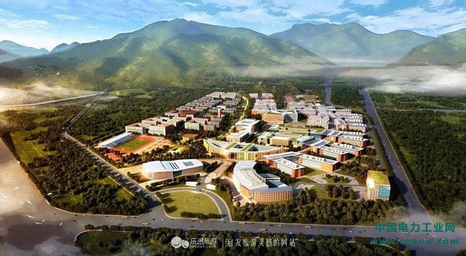 新校区规划俯视图